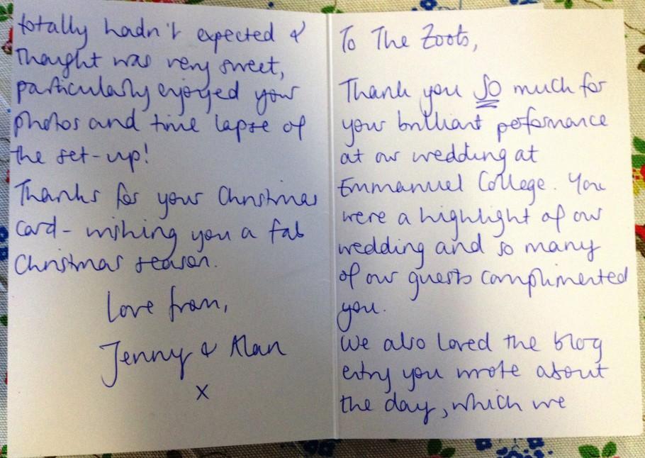 Jenny and Alan testimonial