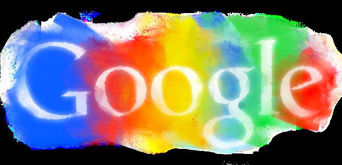 google logo in pastel