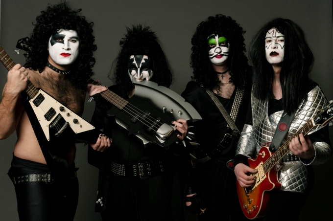 The Glam Rocks, 70s band, KISS themed band, themed band, Band in make up,