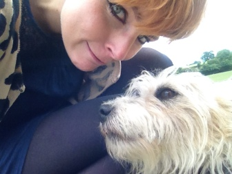 Harriet with a dog, dog selfie, Ed Prior's birthday
