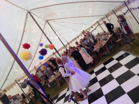 Couple's first dance, Wedding first dance, First dance in Marquee, Marquee wedding, Couple Dancing, Black and white dancefloor, Wedding first dance, Bride and Groom dancing, The Zoots first dance, The Zoots