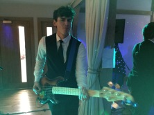 Tommy bass player in the zoots, bass lessons in Swindon, Bassmead Manor Barn, Wedding Venue, Barn Wedding, Sian and Kevin, The Zoots, Wedding Decor, Wedding inspiration, Band for my Wedding, Band for Hire, Winter Wedding,