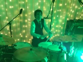 Si on the drums, Bassmead Manor Barn, Wedding Venue, Barn Wedding, Sian and Kevin, The Zoots, Wedding Decor, Wedding inspiration, Band for my Wedding, Band for Hire, Winter Wedding,