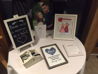 Write a message on a heart, Bassmead Manor Barn, Wedding Venue, Barn Wedding, Sian and Kevin, The Zoots, Wedding Decor, Wedding inspiration, Band for my Wedding, Band for Hire, Winter Wedding,