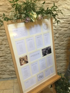 Table plan at Kingscote barn