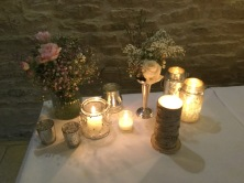 Wedding decorations, Wedding candles, Harriet and JAmie from The Zoots wedding in Tetbury, Jamei and HArriet from The Zoots as the wedding band in Tetbury, wedding band in gloucestershire,