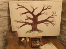 Wedding finger print tree