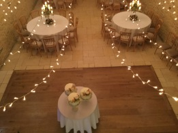 Flower decoration at wedding in Tetbury