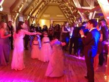 Bridesmaid limbo, Bassmead Manor Barn, Wedding Venue, Barn Wedding, Sian and Kevin, The Zoots, Wedding Decor, Wedding inspiration, Band for my Wedding, Band for Hire, Winter Wedding,