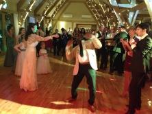 limbo at the wedding, Bassmead Manor Barn, Wedding Venue, Barn Wedding, Sian and Kevin, The Zoots, Wedding Decor, Wedding inspiration, Band for my Wedding, Band for Hire, Winter Wedding,