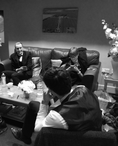 backstage with The Zoots, Bassmead Manor Barn, Wedding Venue, Barn Wedding, Sian and Kevin, The Zoots, Wedding Decor, Wedding inspiration, Band for my Wedding, Band for Hire, Winter Wedding,