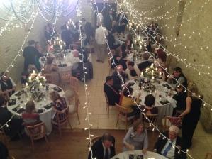 Wedding breakfast at wedding in Gloucestershire