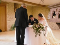 signing register at wedding in Gloucestershire, wedding in Gloucestershire