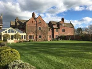 Colshaw Hall, Wedding venue in Cheshire, Colshaw Hall exterior, Colshaw Hall grounds, Wedding in April, UK Wedding,